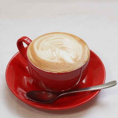 Flat White Coffee at the Curlew Cafe